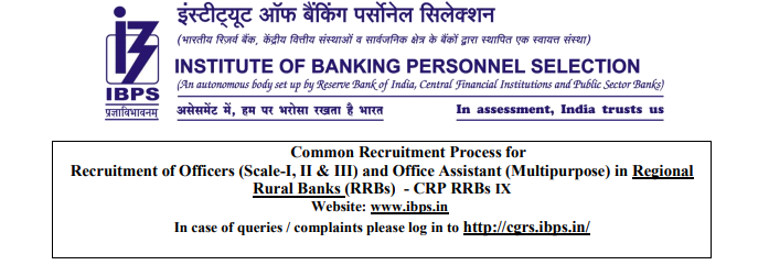 IBPS RRB Multipurpose & Officer Scale